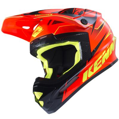 Casque cross Kenny Track 2017 Orange Fluo