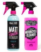 Kit entretien MUC-OFF Twin Pack Nettoyant Moto 1L + Matt Finish 750ml