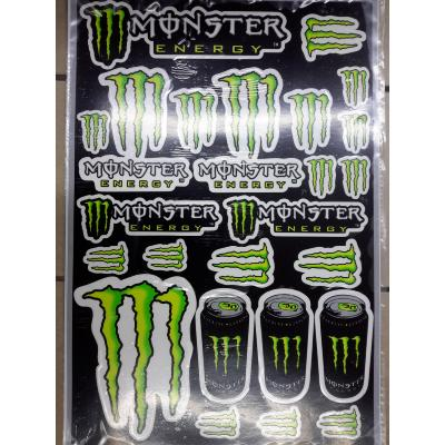 Plaquette stickers Monster Energy